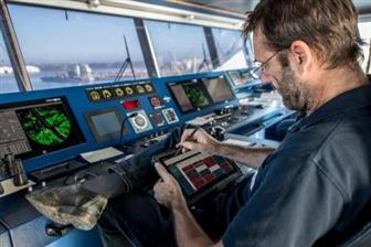 Brabo's team of professional harbor pilots uses Getac F110-EX to guide ships in the Port of Antwerp in Belgium, Europe's second-largest seaport.