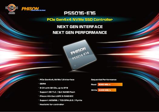 Phison announces the era of PCIe 4 0 solutions