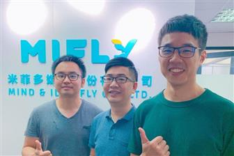 Mifly founder and CEO Roger Lu (center)  Photo: Shihmin Fu, Digitimes, July 2019