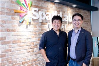 TI CEO Edwin Shao (left) and SparkLabs Taipei co-founder Edgar Chiu (right)