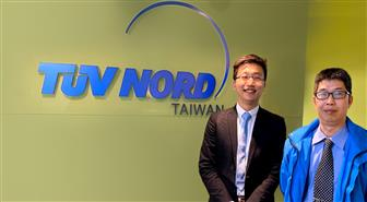Jack Liao (right), senior manager of Product Certification and David Lin (left), senior technical manager, Industrial Service, TUV NORD