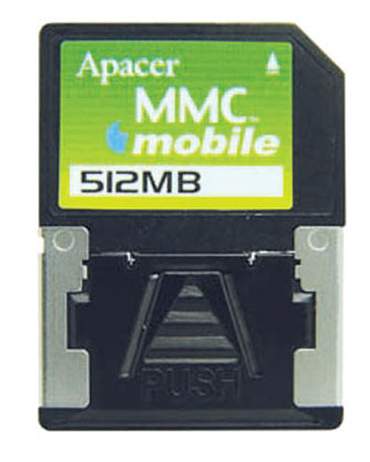 Apacer introduces digital still camera use MMC mobile memory card