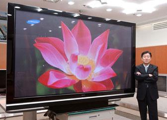 Samsung Highlights 102 Inch Pdp Tv At Kes