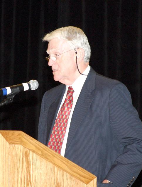 SEMI president and CEO Stanley T Myers speaks at SEMICON West 2006