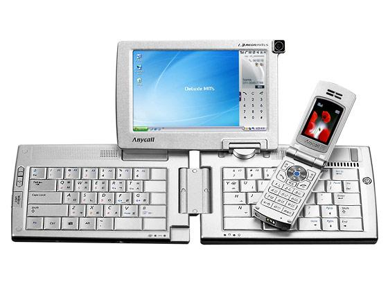 Samsung's WiBro smart phone (SPH-M8100) and multimedia convergence device (SPH-P9000).