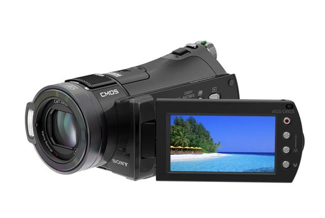 The Sony HDR-CX7 HD camcorder
