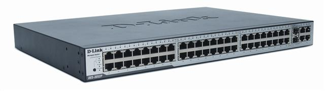 The D-Link xStack DES-3052P 48-port stackable managed switch