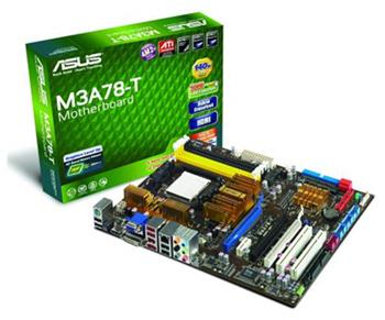Asustek M3A78-T motherboard powered by AMD's 790GX IGP chipset