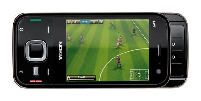 Nokia N85 handset features a 2.6-inch OLED screen