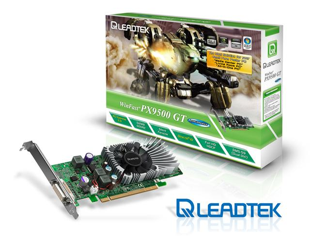 Leadtek WinFast PX9500 GT Low Profile graphics card for SFF PCs