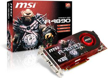 MSI R4890-T2D1G graphics card