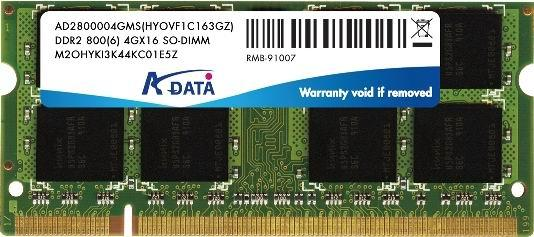 A-Data 4G DDR2 SO-DIMM makes its debut