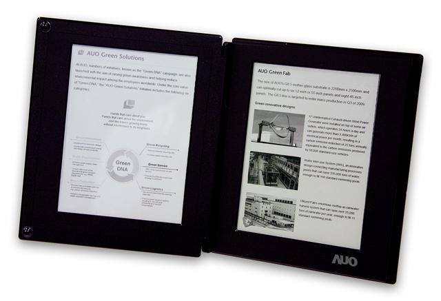 AUO 6-inch touch e-book