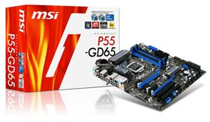 MSI P55-GD65 motherboard