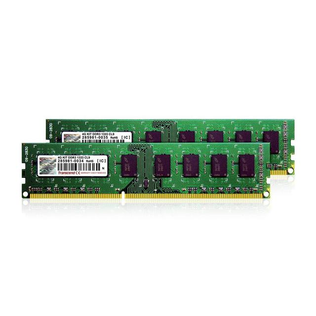 Transcend DDR3 1333MHz memory kit for Intel Core i5