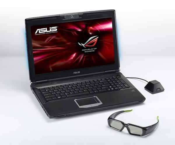 Asustek notebook featuring Nvidia 3D Vision technology