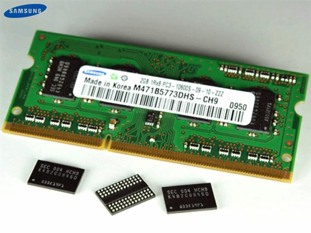 Samsung DDR3 using 30nm-class technology