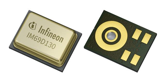 Infineon MEMS microphones with 70 dB signal-to-noise ratio
