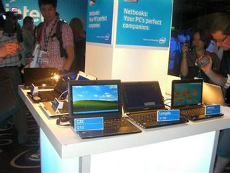 Intel+displaying+Atom%2Dbased+netbooks