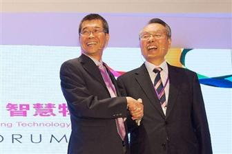 MediaTek+CEO+MK+Tsai+%28left%29+and+Acer+chairman+Stan+Shih+%28right%29