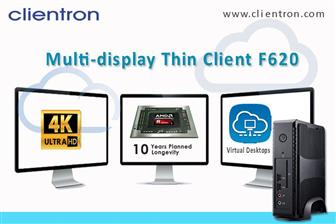 Clientron introduces the multi-display thin client F6