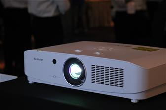 Sharp promoting laser projectors in Taiwan