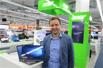 Notebook business manager of Acer Germany, Marcel Behm