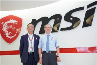 MSI+CEO+Sheng%2Dchang+Chiang+%28left%29+and+chairman+Joseph+Hsu+%28right%29