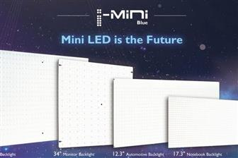 New-generation I-Mini LED used in (from left) 65-inch LCD TV, 34-inch LCD monitor, 12.3-inch automo