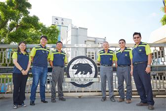 Cheng Day Machinery Works management executives, third right is founder Pan I-te.