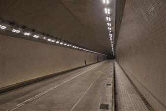 A+tunnel+installed+with+LED+smart+lamps+in+Taipei+City