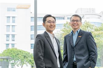 CK Tseng (left), President of Arm Taiwan, and JC Hsu, Corporate VP and GM of MediaTek