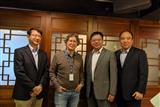 Taiwania executives: Huang Lee, Cheng Wu, David Weng and Steven Lee (left to right)